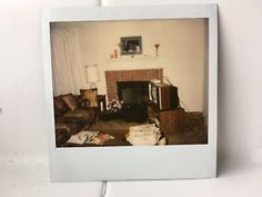 Details about Vintage 80s Polaroid PHOTO Living Room Couch Lamp Box TV  Guitar House Interior