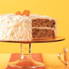 """Carrot-Spice Cake with Caramel Frosting Recipe -""""This cake starts with a mix, but it's loaded with extras to give it that 'from-scratch' flavor. It's so moist and delicious—everyone asks for the recipe!"""" Nora Fitzgerald - Sevierville, TN"""