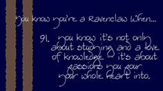 This is the essence of Ravenclaw House