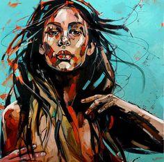 VERANO AZUL 100x100cm, oil on canvas 2015