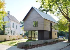 Cedar-clad house by Yale students could serve as a model for affordable housing.