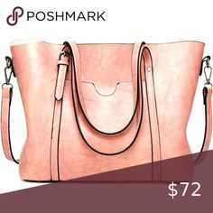 """Pink Leather Satchel Boho Handbag Purse MATERIAL: High Quality Greased Leather CLOSURE: Top Zipper Closure DIMENSIONS: 13""""L x 5.2""""W x 11.4""""H, Strap Drop Length: 9.1"""" INTERNAL:1 side zipper pockets for wallets ,1 middle zipper pockets, 2 compartments open pockets for keys/card. All stuff can be well organized inside. FEATURES: Decorative Silver-tone Hardware, Zip-pockets in Middle, Detachable Shoulder Strap and Top-zipper Closure Poshology 19 Bags Satchels Fashion Handbags, Fashion Bags, Luxury Handbags, Style Fashion, Pink Handbags, Fashion Women, Handbags Uk, Fast Fashion, Pink Fashion"""