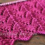 Horseshoe Lace Knitting Stitch pattern - beautiful for a baby blanket