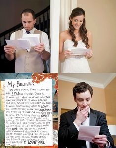 Wedding Photo Musts: Wedding Day Love Notes