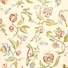 Thibaut Gatehouse Collection 'Westchester' in cream (love this for re-do of 1st floor powder room)