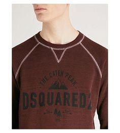 f69494ee4001e DSQUARED2 Logo-detail cotton-jersey sweatshirt Dsquared2, Sweatshirt