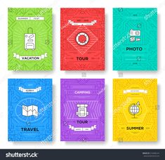 Set of thin line travel pattern concept. Art traditional, magazine, book, poster, abstract, banners, element. Vector outline package greeting card or invitation design background
