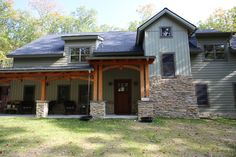 Mid-Atlantic Timberframes provides custom timber frame construction for homes or commercial structures compared to traditional post and beam construction. Timber Frame Home Plans, Timber Frame Homes, Post And Beam, House In The Woods, House Plans, Shed, Construction, Outdoor Structures, Traditional
