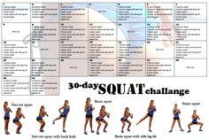 Squat circuit challenge 4 weeks to 200 squat 30 Day Squat Challenge