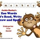 Zoo  Zoo  Zoo  Zoo Words  Let's Read, Write, Draw and Spell Zoo Animals WOW! 19 pages of Independent Morning Work  http://www.teacherspayteachers.c...