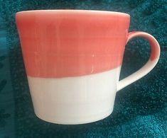 Royal Doulton 1815 Coral Pink White Coffee Mug Cup England | eBay