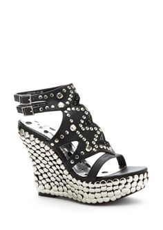 Studded Wedge Sandal
