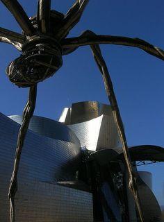 Basque Country, Bizkaia, Bilbao, Maman, esculpture by Louise Bourgeois, near Guggenheim Museum