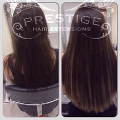Double Drawn micro keratin bonded Prestige Hair Extensions shades 2 + 7b Remy AAAA #Stockport #salon #hairextensions