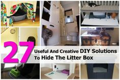 27 Useful And Creative DIY Solutions To Hide The Litter Box