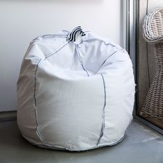Bean Bag Chair Bean Bag Pouf Round Bean Bag By Pozitivebeanbags