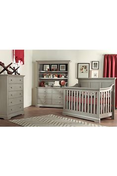 Kingsley Jackson Collection in Ash Grey #kingsley #crib #nursery