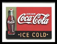 Ice Cold Coca Cola by Ralph Sutton Designs Coca Cola Drink, Coca Cola Bottles, Pepsi, Vintage Coke, Retro Vintage, Cocoa Cola, World Of Coca Cola, Vintage Images, Candy