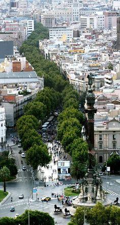 Las Ramblas in Barcelona, Spain España
