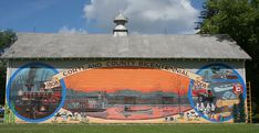 murals on barns | mural on a barn in the hamlet of Pokeville commemorating the ...