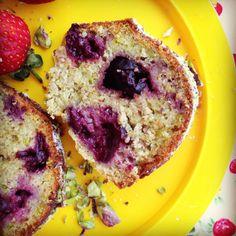 cherry pistachio bundt cake