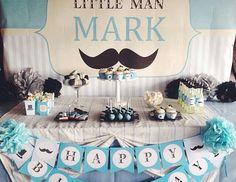 "Mustaches / Little Man / Birthday ""Little Man Birthday Party"""