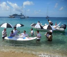 """Want to experience this: """"We were there for this most incredible Caribbean experience...Caviar in the Surf with Seabourn Quest"""""""