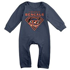 ElishaJ Super Cincinnati Diamond Logo Babys Long Sleeve Onesies Navy Size 6 M -- Check out this great product.