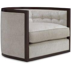 baker furniture archetype round tufted swivel chair 6360c archetype furniture
