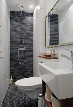 Incroyable ! Pas besoin de beaucoup de place pour faire une salle de bain...