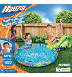 Banzai Basen ze zjeżdżalnią krokodyl - Slide'n Splash Alligator Pool https://pulcino.pl/banzai/791-banzai-basen-ze-zjezdzalnia-krokodyl-slide-n-splash-alligator-pool.html