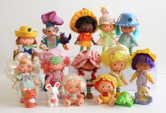 Strawberry Shortcake Dolls were the best and Strawberry wore a dress!