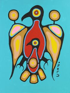by Christian Morrisseau Arte Inuit, Inuit Art, Native American Artwork, American Indian Art, Aboriginal Artwork, Woodland Art, Indigenous Art, Native Art, Art Plastique