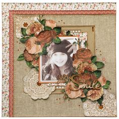 Layout designed for the Merly Impressions Retreat July using Always & Forever Kaisercraft collection. Vintage Scrapbook, Scrapbook Cards, Sepia Color, Shabby Chic Theme, Soft Pink Color, Peach Flowers, Scrapbooking Layouts, Creative Inspiration, Crafty
