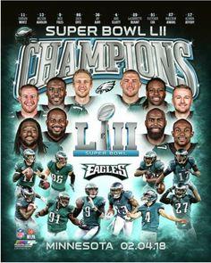 Details about Philadelphia Eagles 2017 Super Bowl LII Champions Composite  Official 8x10 Photo b9ca77481