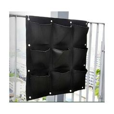 9 Pocket Green Vertical Garden Planter Wall-mounted Planting Flower Grow Bag - Mega Save Wholesale & Retail