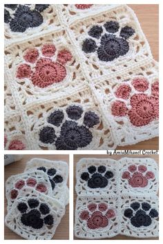 Crochet Square Patterns, Crochet Blocks, Crochet Squares, Crochet Blanket Patterns, Crochet Motif, Crochet Designs, Crochet Yarn, Crochet Stitches, Knitting Patterns