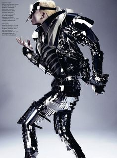 Space Age Androgyny: Andrej Pejic in Dazed and Confused Magazine at LuLus.com!