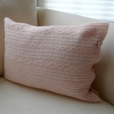 Cable Knit Upcycled Sweater Pillow