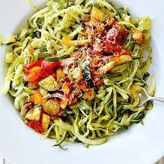 Courgette spaghetti : comment agrémenter des spaghetti de courgette ? - Elle à…