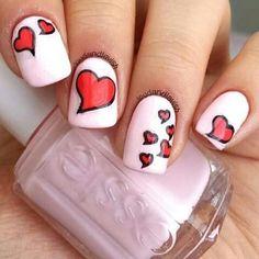 heart shaped nail art