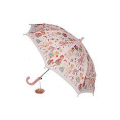 Paraguas infantil dolls las muñecas recortables en paraguas  niñas #vintage #retro