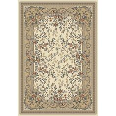 Royal Mina Camel Oriental Floral Rug - 4612.66 By Central Oriental Rugs