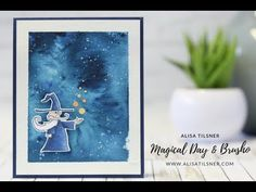 Stampin' Up! Brusho Space/Galaxy Background - YouTube