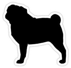 pug silhouette clip art - Google Search