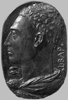 Leon Battista Alberti, (1435) | Autoportrait- médaille de bronze, 20 cm, National Gallery or Art, Washington