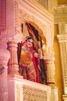 Bridal Wear - Simply Ethereal! Photos, Hindu Culture, Beige Color, Bridal Makeup, Mangtika, Antique Jewellery pictures, images, WeddingPlz