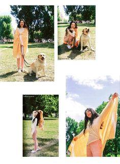 Sulli / Jinri Love Myself Photobook. Sulli Choi, Choi Jin, Peach Wallpaper, Kawaii Wallpaper, Angels Beauty, Kpop, Sully, Photo Cards, Summer Days