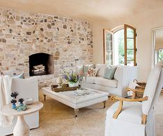 Rustic Fireplace - someday reface in stone?