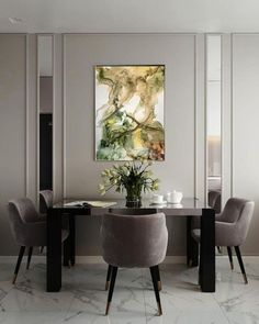 Dining Room Design-Build Inspiration: Repin by Mannino Design, an architect-led design-build firm in the greater New York Metro area that caters to career-driven couples with impeccable taste for their homes. Luxury Homes Interior, Luxury Home Decor, Home Interior Design, Interior Decorating, Luxury Dining Room, Dining Room Design, Classic Dining Room, Dining Room Inspiration, Interior Design Inspiration